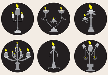 Silver Candlestick Sets - Free vector #328305