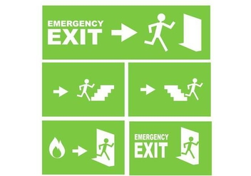 Emergency Exit Sign Free Vector - Kostenloses vector #328715