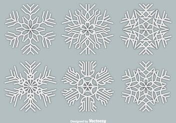 Paper white snowflakes - Free vector #328805