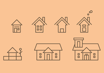 Free Townhomes Vector Icons #2 - Kostenloses vector #328845