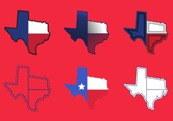Texas Map Vector Icons #2 - vector gratuit #328865