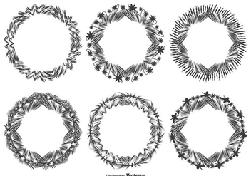 Decorative Abstract Frame Set - vector gratuit #328875