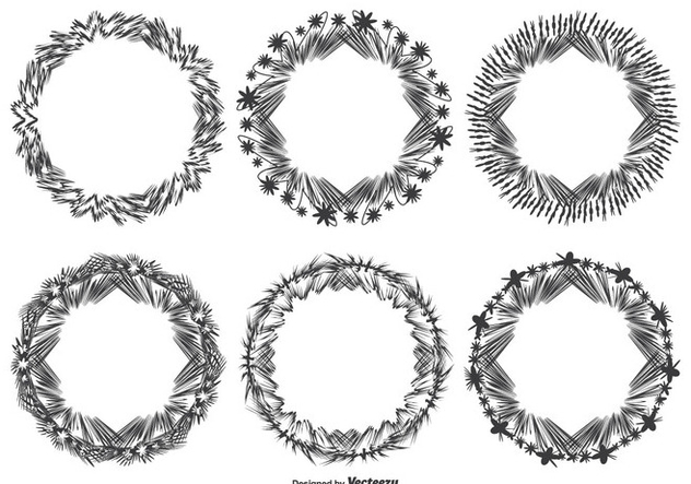 Decorative Abstract Frame Set - Free vector #328875