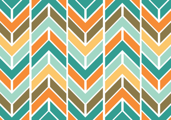 Colorful funky chevron pattern vector - Free vector #328935