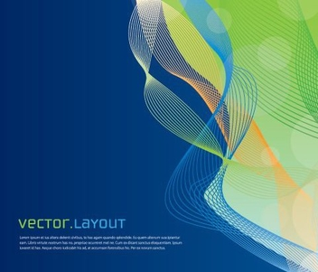 Colorful Spiral Waves Blue Background - Free vector #328945