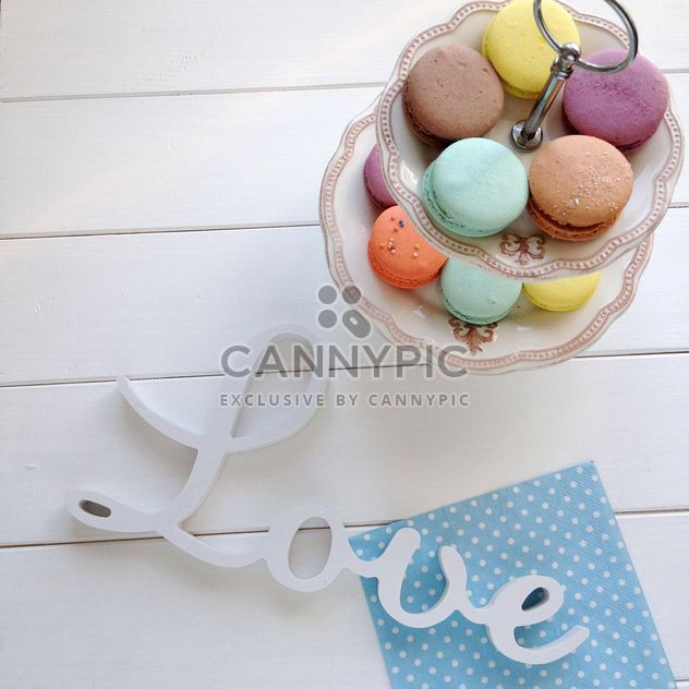 Colorful macaroons and word Love - Free image #329105