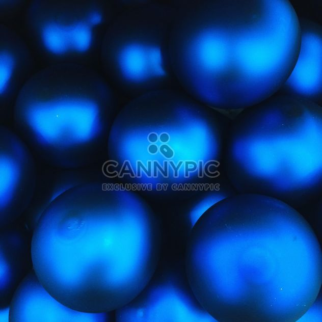 Blue Christmas toy balls - Free image #329195