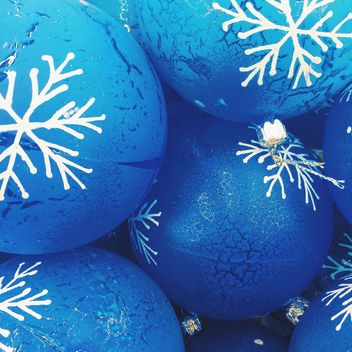 blue Christmas toys background - бесплатный image #329255