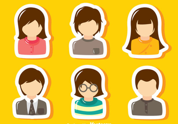 Default Avatar Set - vector #329315 gratis