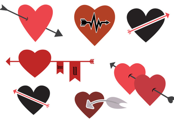 Vector Set of Heart Symbols - Kostenloses vector #329365