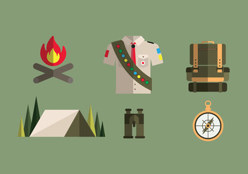 Boy Scout Illustrations - Free vector #329455