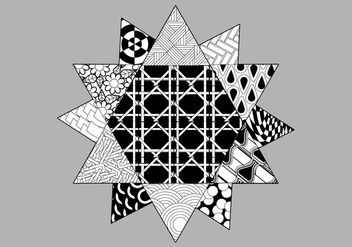 Pattern Filled Coloring Page - vector gratuit #329465