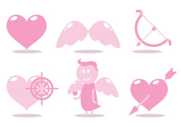 Cupids Bow Vector Set - Free vector #329495