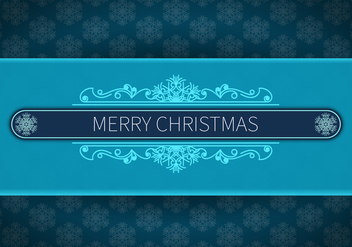 Merry christmas blue background - Free vector #329685