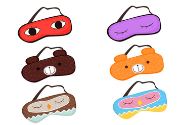 Sleeping mask vectors - Free vector #329695