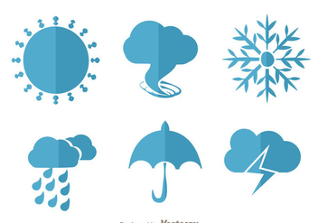Weather Flat Vectors - vector gratuit #329725