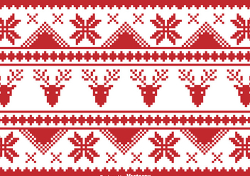 Christmas traditional pixel border - бесплатный vector #329745