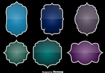 Colorful glossy labels - Free vector #329775