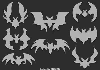 Gray bats silhouettes - Free vector #329785