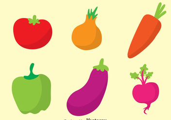 Vegetable Colors Icons - Kostenloses vector #329805