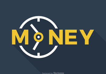 Free Time Is Money Vector Word Art - Free vector #330035