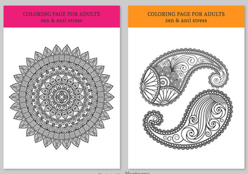 Free Coloring Pages For Adults - Free vector #330045