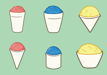 Free Snow Cone Cup Vector Illustration - бесплатный vector #330055