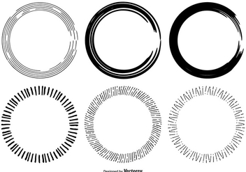 Hand Drawn Circle Frame Shapes - Kostenloses vector #330085
