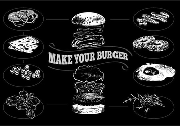 Free Hamburger Process Vector Illustration - бесплатный vector #330125