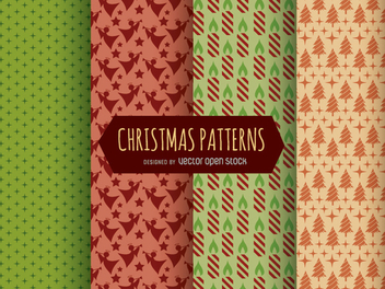 Christmas Patterns and textures - Kostenloses vector #330205