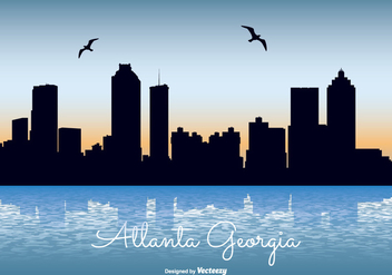 Atlanta Georgia Skyline Illustration - Kostenloses vector #330615
