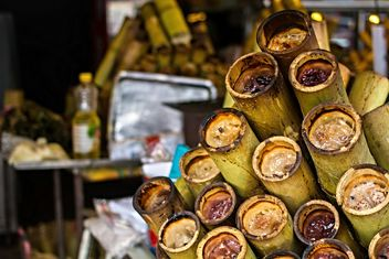 Sweet sticky rice in a bamboo - бесплатный image #330725