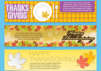 Thanksgiving Banners - vector gratuit #330745
