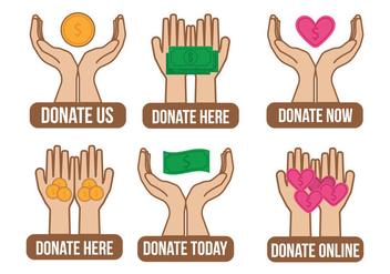 Donate Icon Vector - vector #330785 gratis