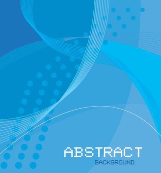 Blue Waves Halftones Abstract Background - vector gratuit #330835