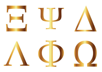 Free Greek Alphabet Vector Icon - vector #331025 gratis