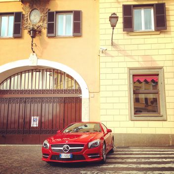 Red Mercedes car - image #331235 gratis