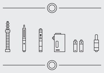 Free Vape Vector Icons #1 - Free vector #331355