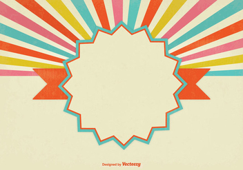 Colorful Blank Retro Style Sunburst Background - Free vector #331445