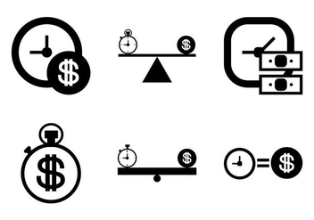 Free Time is Money Vector Icon - vector gratuit #331555