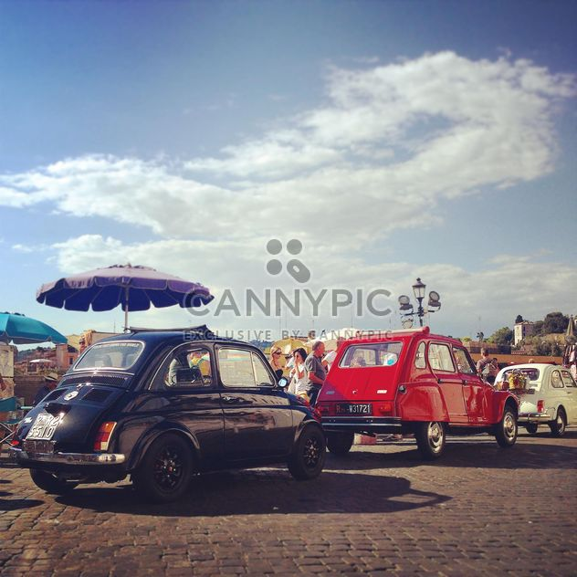 Old cars in street of Rome - Free image #331625