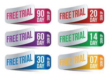 30 Day Free Trial Vector - vector gratuit #331635