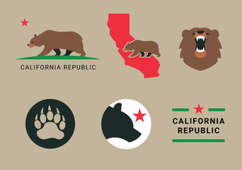 California Bear Vectors - vector gratuit #331645