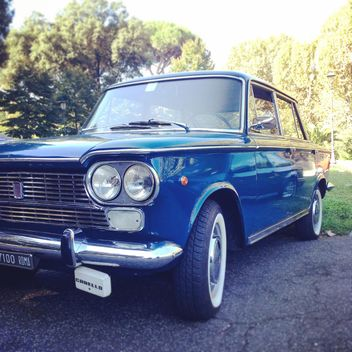 Blue Fiat 1500 car - Free image #331685