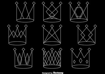 White line crowns - Free vector #331785