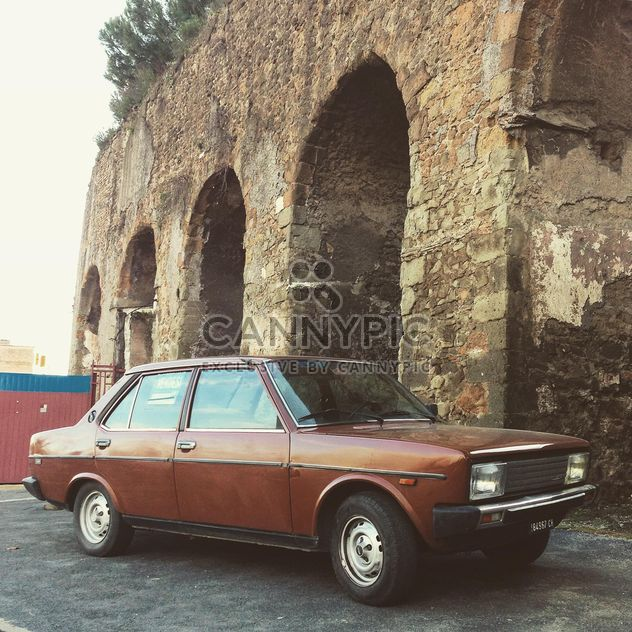 Old brown Fiat 131 voiture - image gratuit #331855