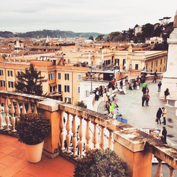 View on Roman architecture from terrace - Free image #332025