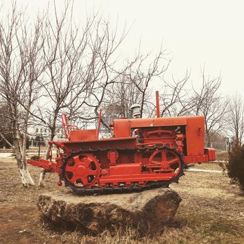 Red agricultural machinery - Free image #332165