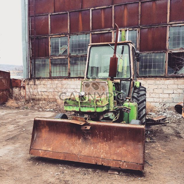 Old green tractor - Free image #332175
