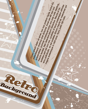 Retro Abstract Grungy Magazine Cover - vector gratuit #332415
